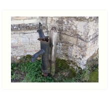 Water pump Easton Maudit church Art Print