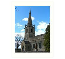 St Peter and Paul church, Easton Maudit Art Print