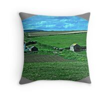 Cornish Landscape Throw Pillow