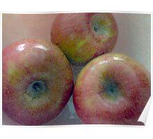 Les Pommes Trois  Poster