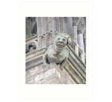 Gargoyle Easton Maudit church Art Print
