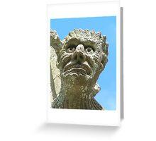 Close up of Gargoyle Greeting Card