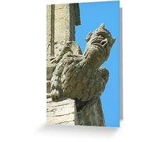 Gargoyle Easton Maudit church, Northamptonshire. Greeting Card