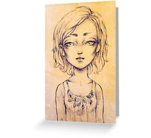 Scar on the browbone Greeting Card