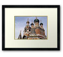 ST Nicolas Russian cathedral Framed Print