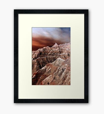 Badlands National Park .3 Framed Print