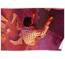 neonflash sat capture : artist paving earth Poster