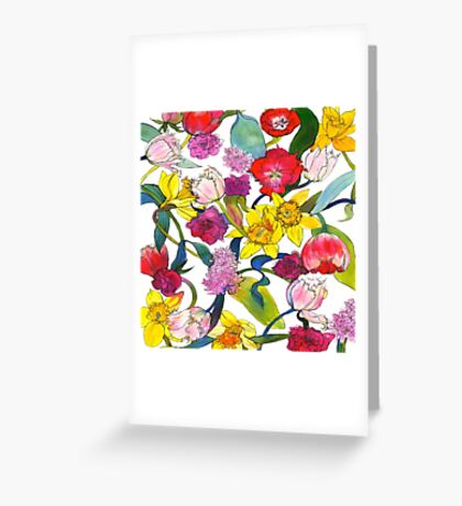 Tulips & Daffodils Greeting Card