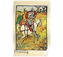 Don Quixote of the Mancha retold by Judge Parry Illustrated by Walter Crane 1920 59 - Don Quixote and the Windmills Poster