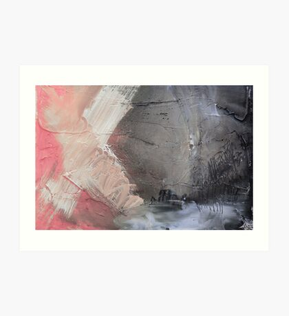 Starting Point,Pink Blue Abstract Giclee,Pink grey Giclee Print,Abstract Painting,pink white Giclee,pink grey print,pink wall art Art Print