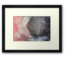 Starting Point,Pink Blue Abstract Giclee,Pink grey Giclee Print,Abstract Painting,pink white Giclee,pink grey print,pink wall art Framed Print