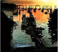 Firey Dawn on Mallets Bay by Wayne King