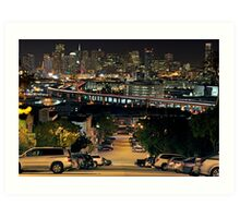 Downtown SF from Portrero Hill Art Print