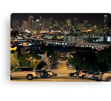 Downtown SF from Portrero Hill Canvas Print