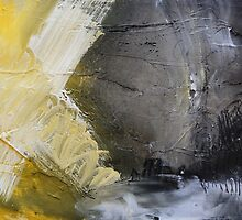 Starting Point,Gold Abstract Giclee,Gold grey Giclee Print,Abstract Painting,yellow white Giclee, grey print,gold wall art by AndradaArt