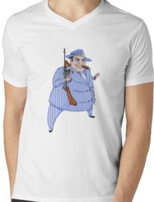 Mob Boss T-shirt Mens V-Neck T-Shirt