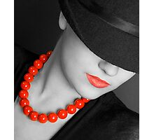 Lips & Beads Photographic Print