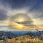 Sun halo over the high country by Kevin McGennan