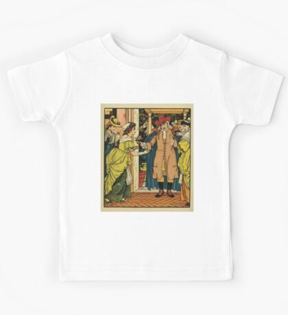 Beauty and the Beast by Walter Crane 1875 7 - At the Door Kids Tee