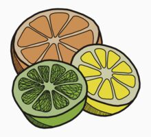 Citrus Sticker by tosojourn