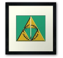The Geekly Hallows Full Color - The Ultimate Geek T-Shirt Framed Print