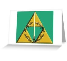 The Geekly Hallows Full Color - The Ultimate Geek T-Shirt Greeting Card