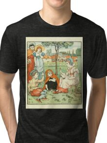 Goody-Two-Shoes by Walter Crane 190x 9 - Alphabet and Reading Tri-blend T-Shirt