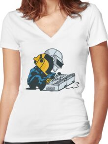 Daft Nuts Women's Fitted V-Neck T-Shirt