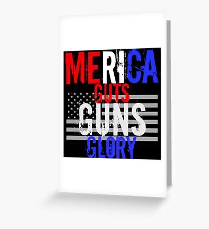 Merica Greeting Card