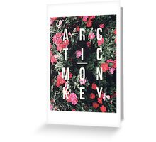 Arctic Monkeys Floral Shirt Greeting Card