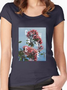 Chance the Rapper - Floral Shirt Design Women's Fitted Scoop T-Shirt