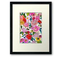 Peonies & Roses Framed Print