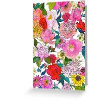 Peonies & Roses Greeting Card