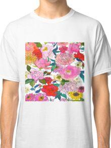Peonies & Roses Classic T-Shirt