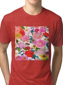 Peonies & Roses Tri-blend T-Shirt