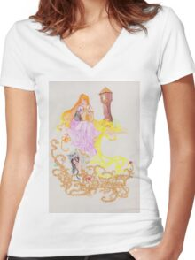The Oral Tradition of Rapunzel Women's Fitted V-Neck T-Shirt