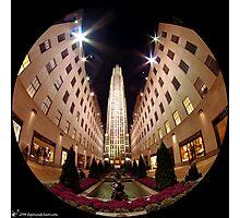 Rockefeller Center (night) Photographic Print