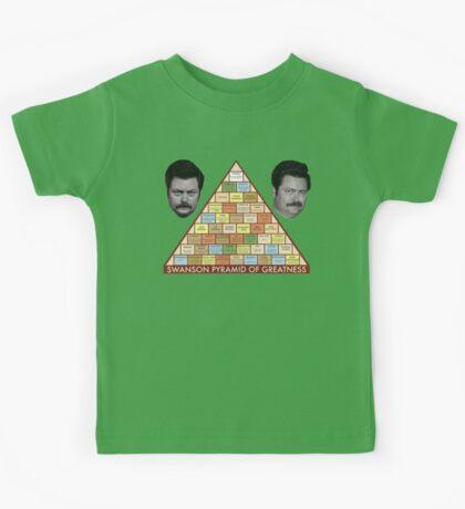 Swanson Pyramid of Greatness Kids Tee