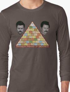 Swanson Pyramid of Greatness Long Sleeve T-Shirt
