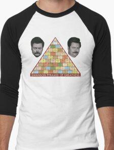 Swanson Pyramid of Greatness Men's Baseball ¾ T-Shirt