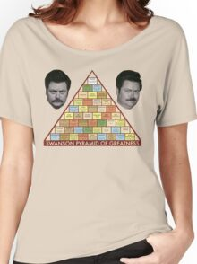 Swanson Pyramid of Greatness Women's Relaxed Fit T-Shirt