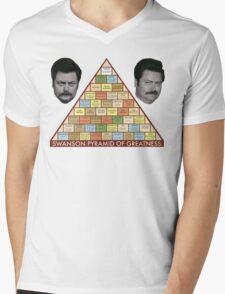 Swanson Pyramid of Greatness Mens V-Neck T-Shirt