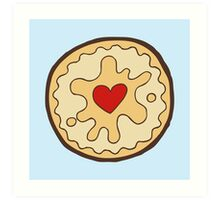 Jammy Dodger British Biscuit Art Print