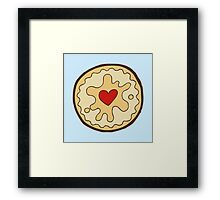 Jammy Dodger British Biscuit Framed Print