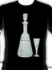 crystal carafe and wineglass T-Shirt