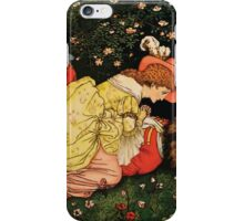 Beauty and the Beast by Walter Crane 1875 22 - Death iPhone Case/Skin
