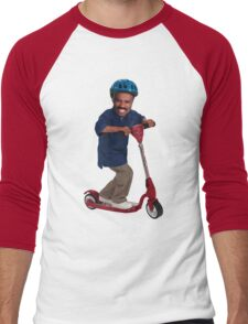 """This is Steve Harvey as a Five Year Old Riding a Scooter"" Men's Baseball ¾ T-Shirt"