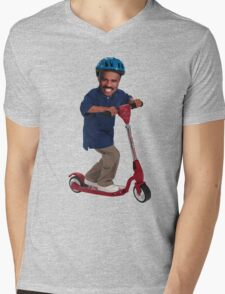 """This is Steve Harvey as a Five Year Old Riding a Scooter"" Mens V-Neck T-Shirt"