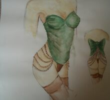 green corset by jennab