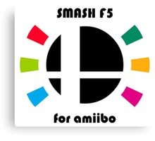 Smash F5 for amiibo Canvas Print